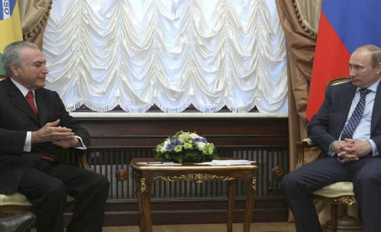 Russian, Brazilian Presidents stress need for political solution to crisis in Syria