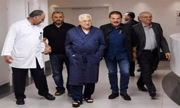 Palestinian President Abbas leaves hospital after 8-day stay