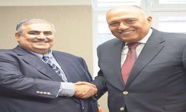 Egypt's foreign minister meets UNDP official, Bahraini counterpart in New York