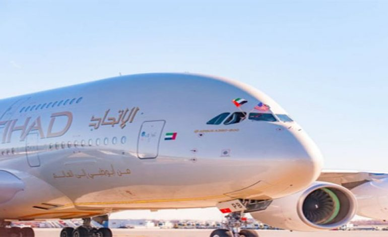 Etihad Airways launches world's 1st flight run by UAE plants
