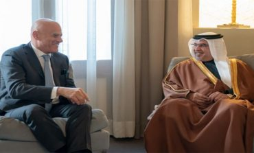 HRH the Crown Prince meets Chief Executive Officer of the Italian energy company Eni S.p.A.