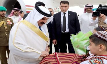 HM King arrives in Turkmenistan