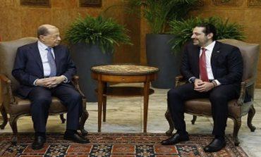 Hariri Meets Aoun, Says Efforts Ongoing to Resolve Berri Row